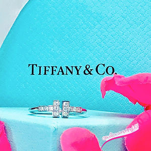 NWOT T&Co 18K Wht Gold/Diamond Tiffany T Wire Ring